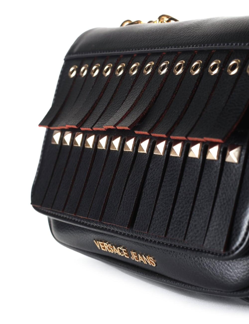 4afd278ae9 Versace Jeans Chain Strap Women s Tassel Crossbody Bag
