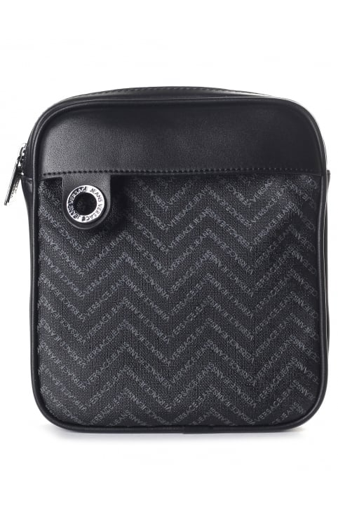 Chevron Print Men's Crossbody Bag