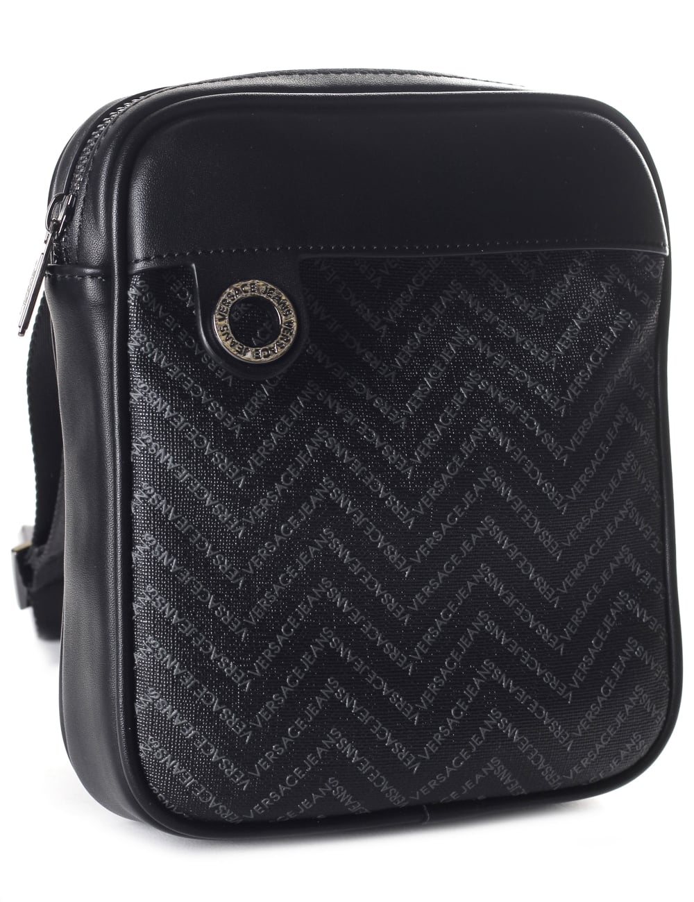 d9f68eef0f Versace Jeans Chevron Print Men s Crossbody Bag