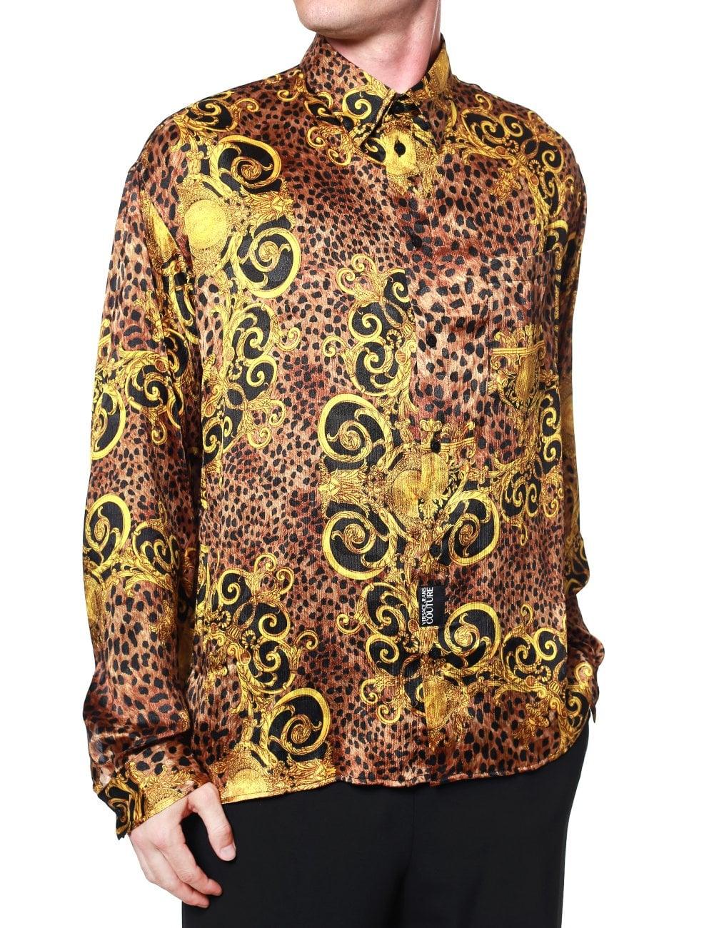 minorista online desigual en el rendimiento Mitad de precio Leopard Baroque Long Sleeve Shirt