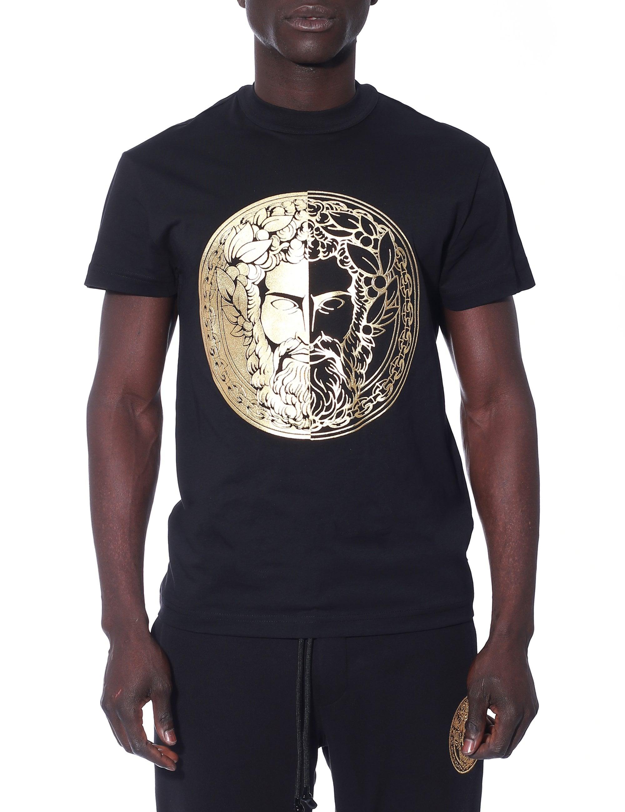 Versace Jeans Cotton Round Neck Black//Gold Sweatshirt