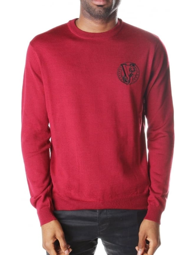 Versace Jeans Crew Neck Men's Pullover Knit