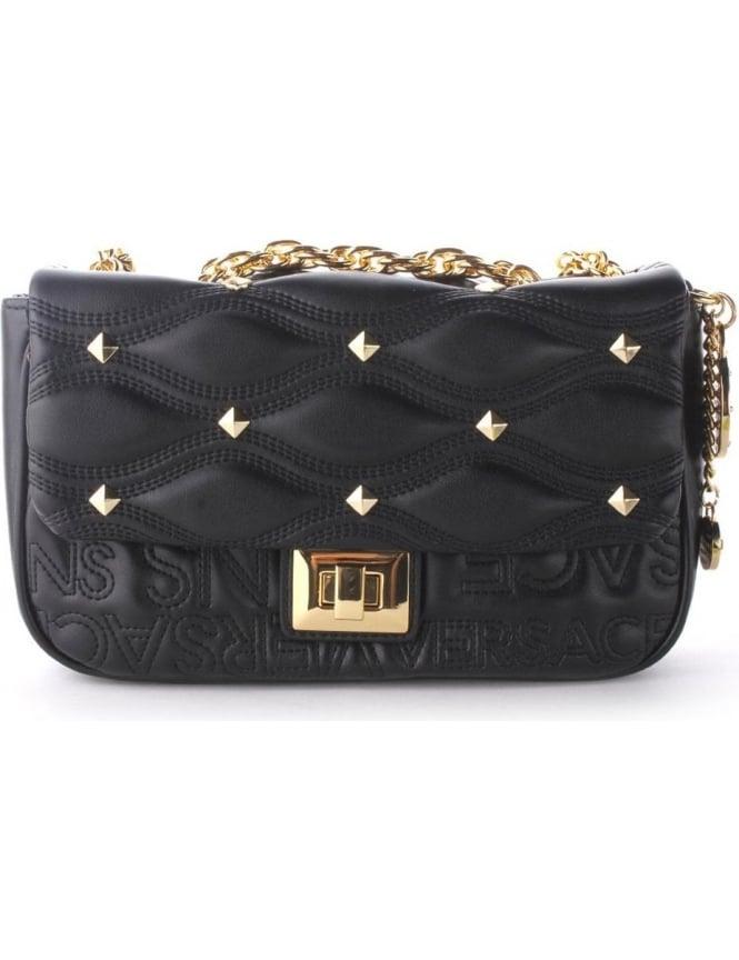 01f38ef0c4 E1VMBBB3 Versace JeansDiamond Stud Women s Crossbody Bag Black
