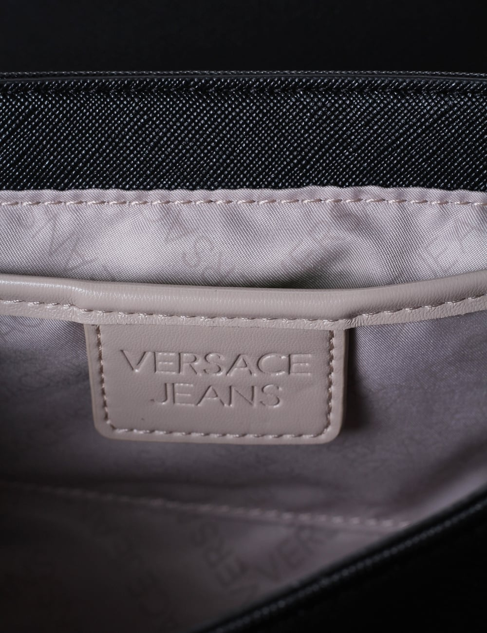 7a50f102faa6 Versace Jeans Embossed Logo Women s Chain Strap Bag