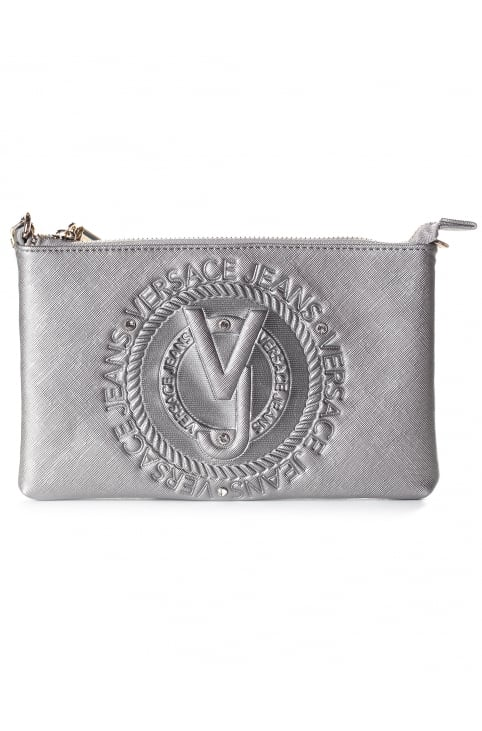 Embossed Zip Top Women's Clutch Bag