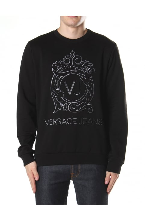Embroidered Crew Neck Sweat Top