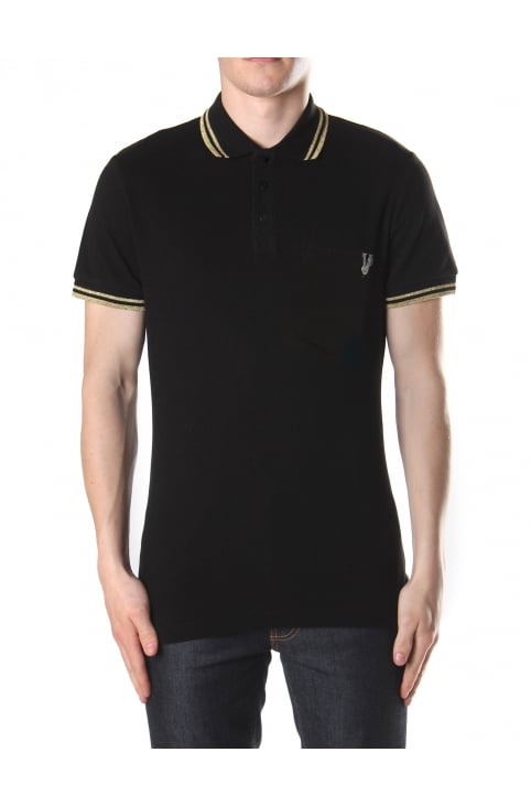 Embroidered Short Sleeve Polo Top