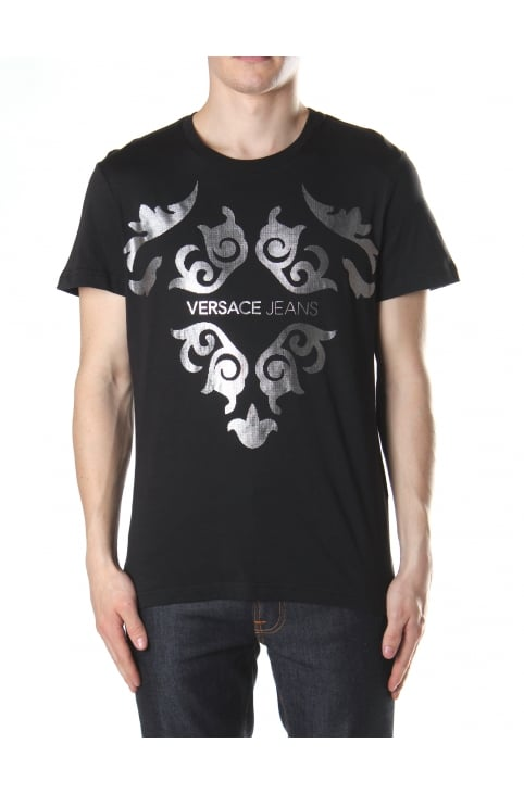 Foil Baroque Print Men's Crew Neck Tee