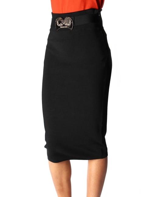 Versace Jeans Long Knitted Women S Skirt Black