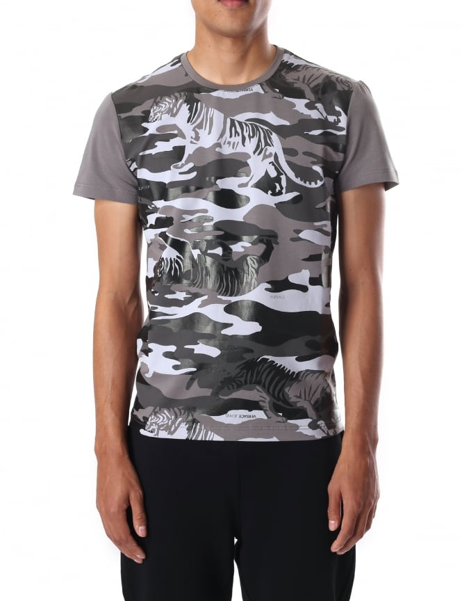Versace Jeans Men's Camouflage Tiger Short Sleeve Tee