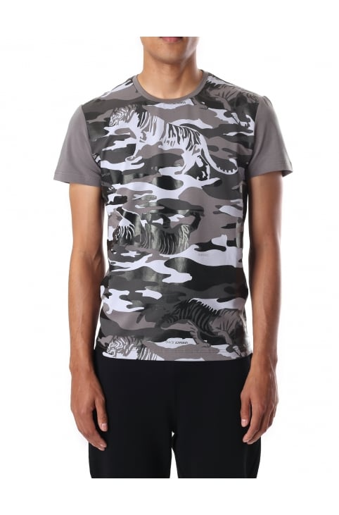 Men's Camouflage Tiger Short Sleeve Tee