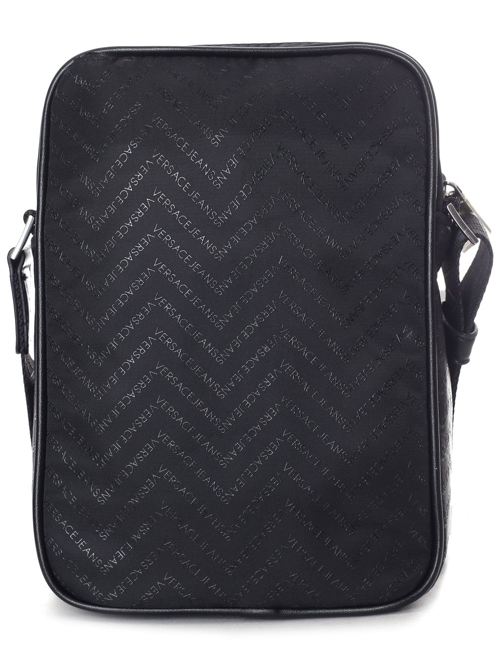 Versace Jeans Men s Chevron Cross Body Bag Black 566ea9c533