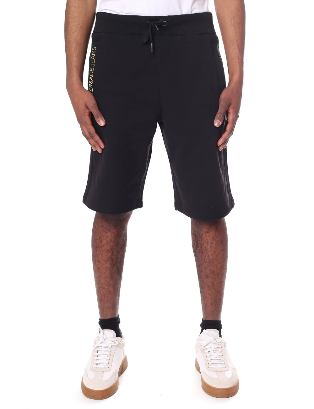 Shorts Embroidered Waist Tie Logo Jeans Versace Men's Sweat fvbgI76ymY