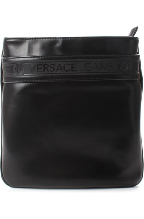 Men's Logo Satchel Bag Black