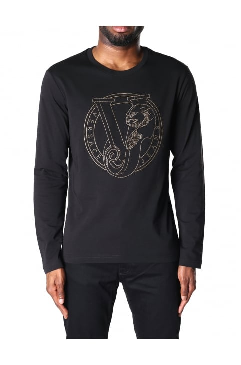 Men's Long Sleeve Logo Stud Slim Tee
