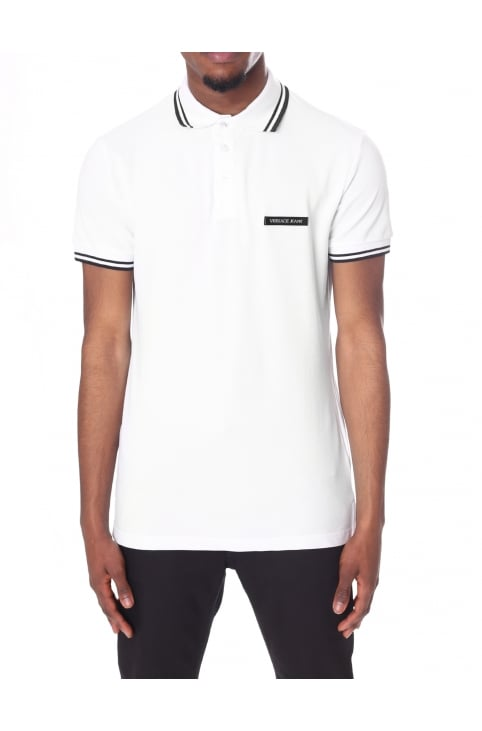 Men's Tipped Collar Short Sleeve Polo Top