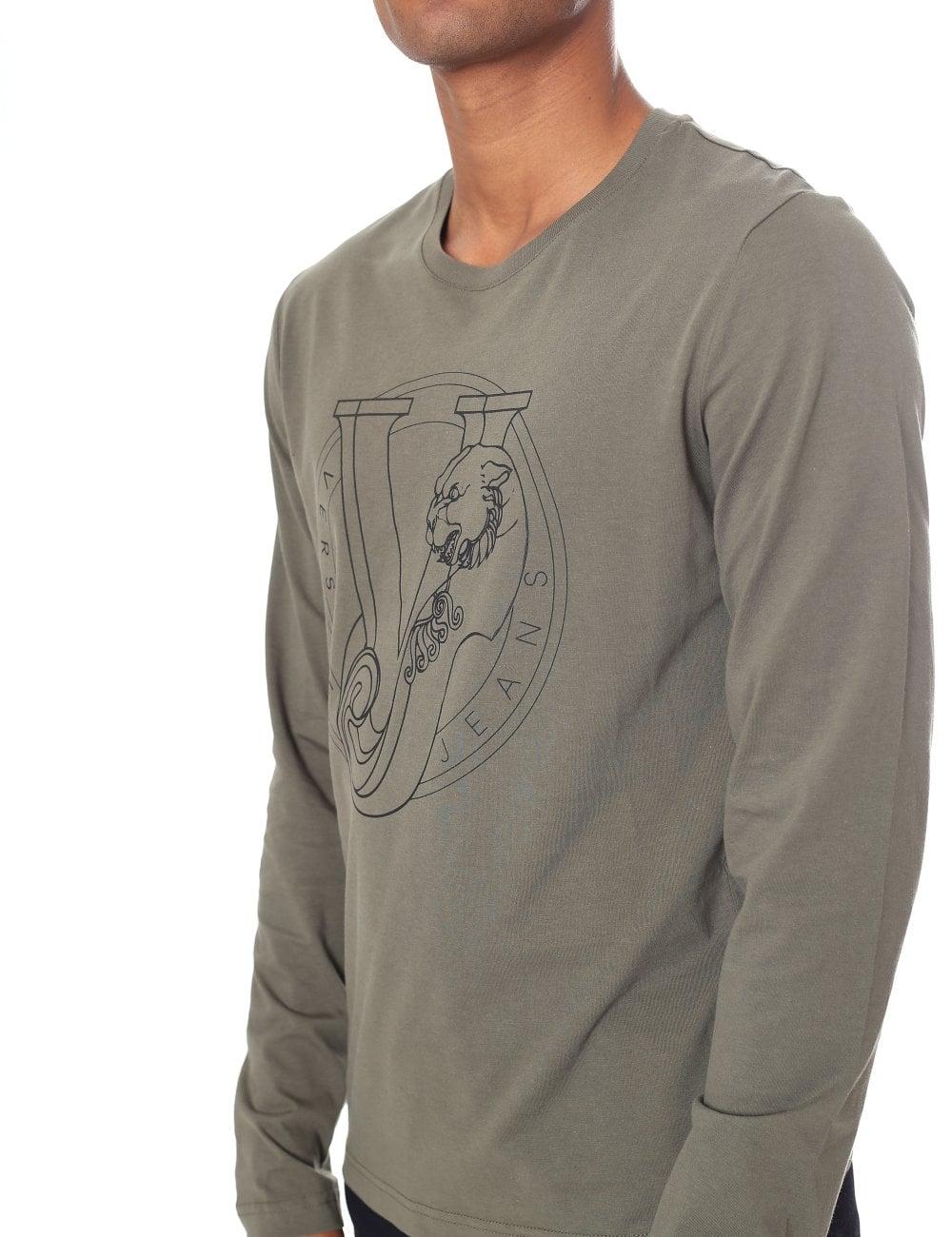 36119227c47fc Versace Jeans Men s VJ Logo Long Sleeve Tee