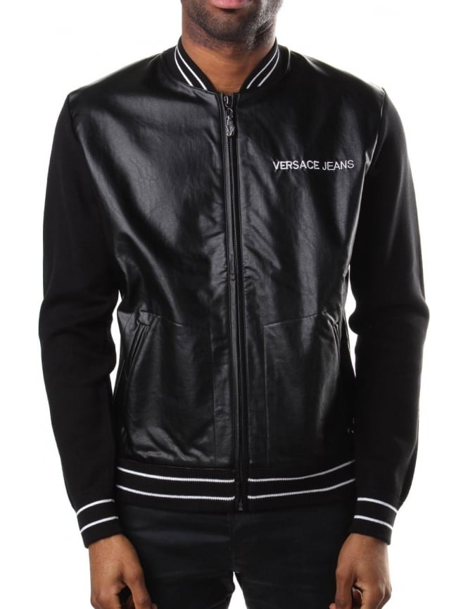 c7a7636414 Versace Jeans Men's Zip Through Bomber Jacket Black