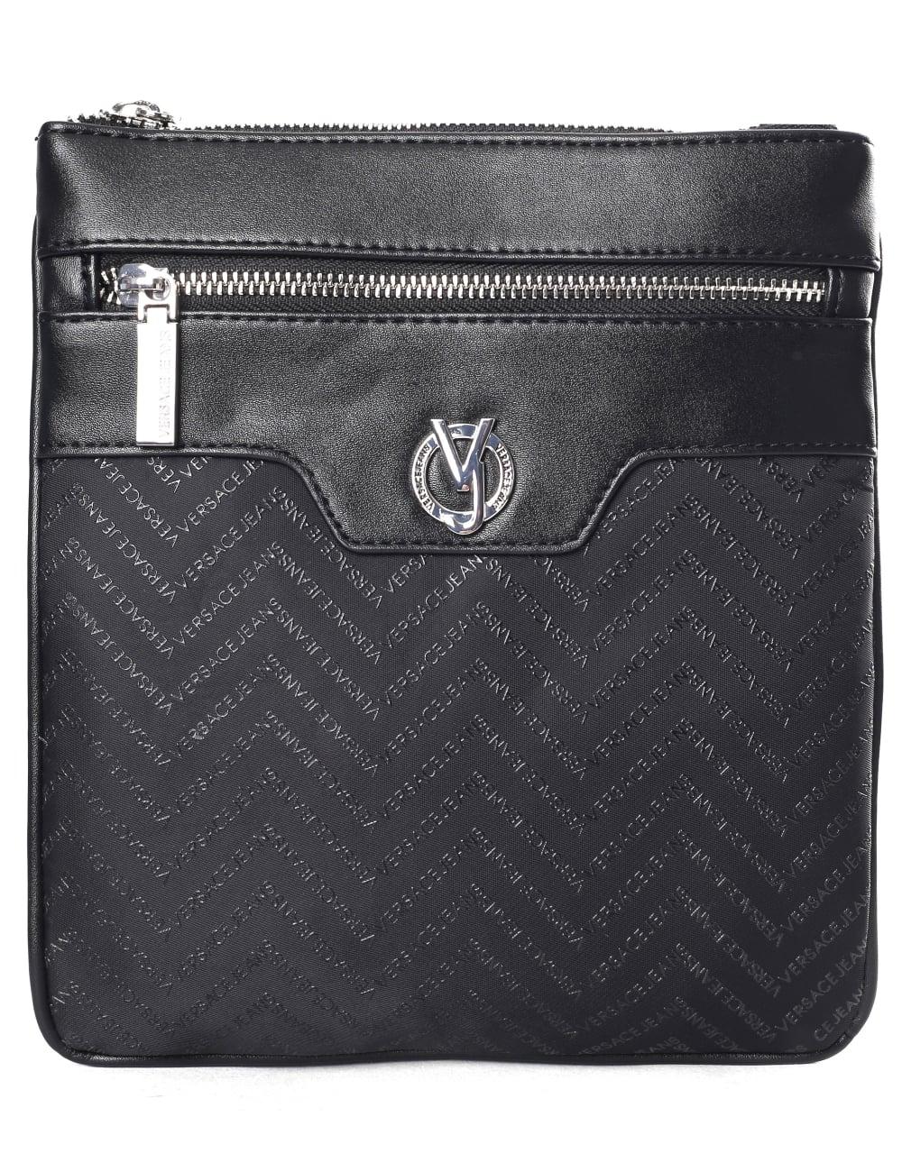 Versace Jeans Repeat Logo Men s Linea Messenger Bag 614e9f139ab11
