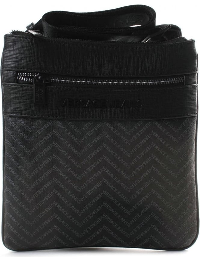 59b5dd954668 Versace Jeans Repeat Logo Men s Satchel Bag Black