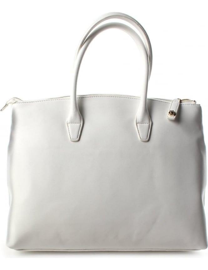 Versace Stitch And Stud Women's Shopper Bag White