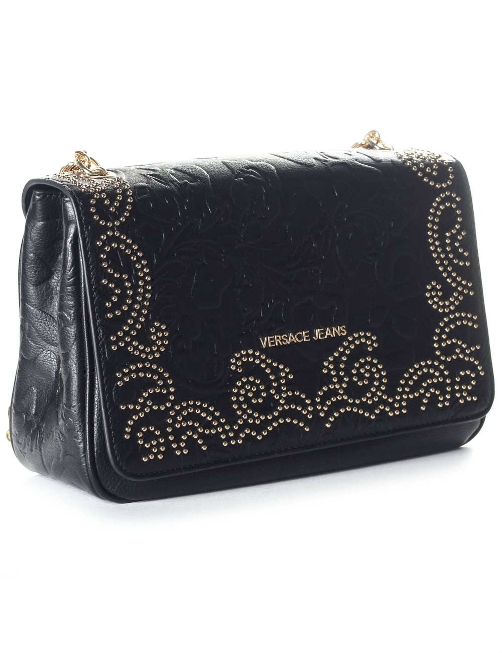 58c3b8f956 Versace Jeans Studded Women s Chain Strap Bag