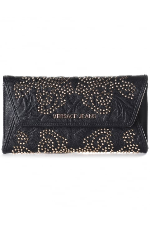 Studded Women's Fold Over Clutch/Purse Bag