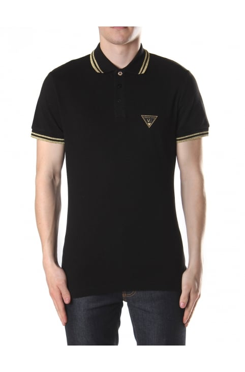 Tipped Collar Men's Short Sleeve Polo Top