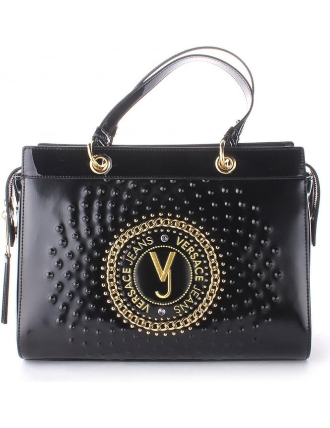 31b64d6cf9 Versace Jeans  VJ  Chain logo Women s Handbag Black