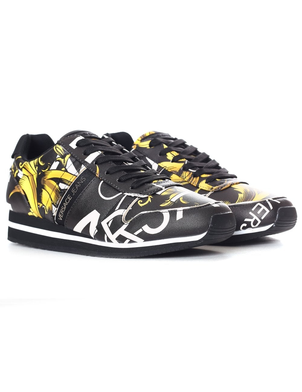 ef09a35b9a9 Versace Jeans women s Baroque Printed Coated Trainer