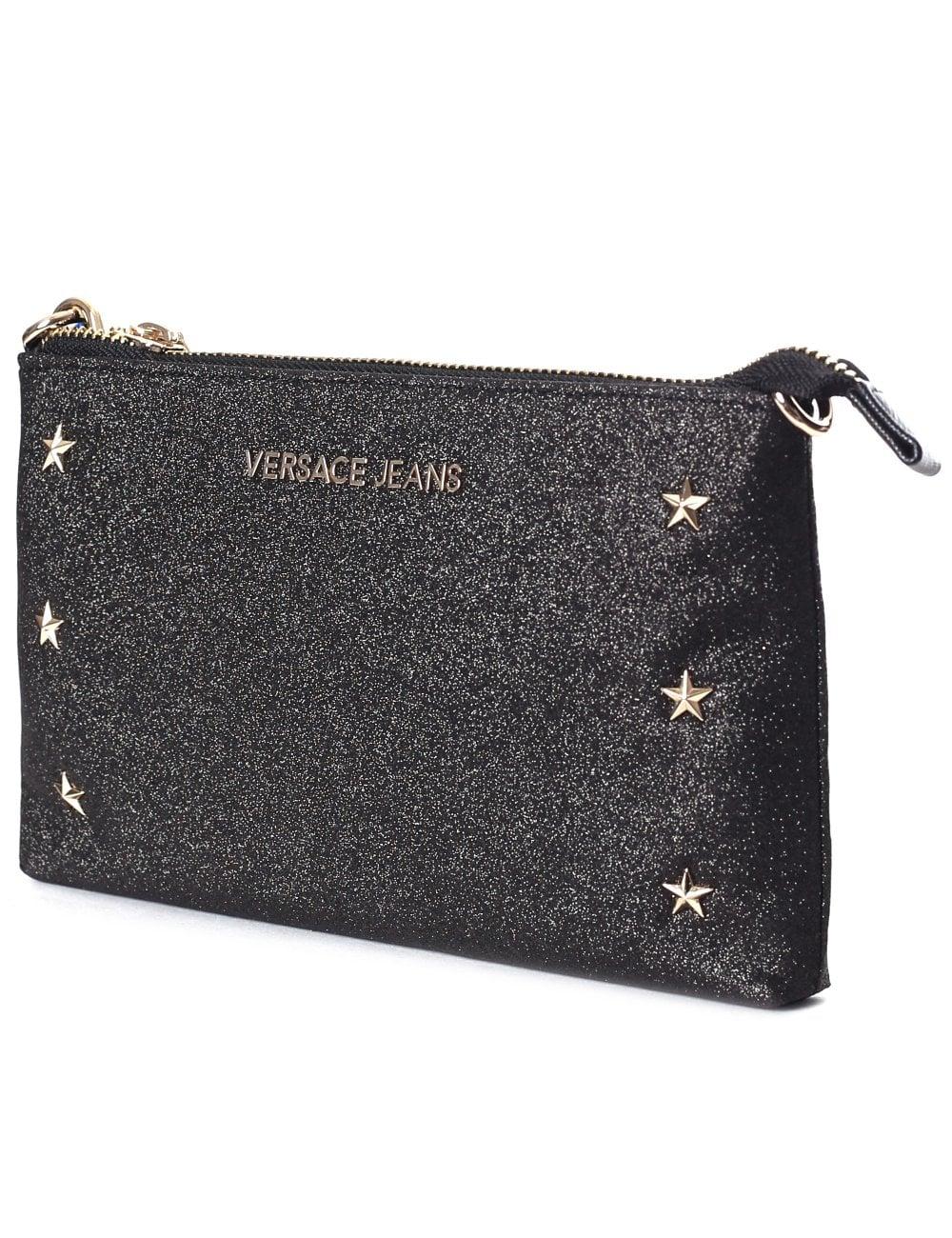Versace Jeans Women s Glitter Star Small Crossbody Bag ee84284cc8e15