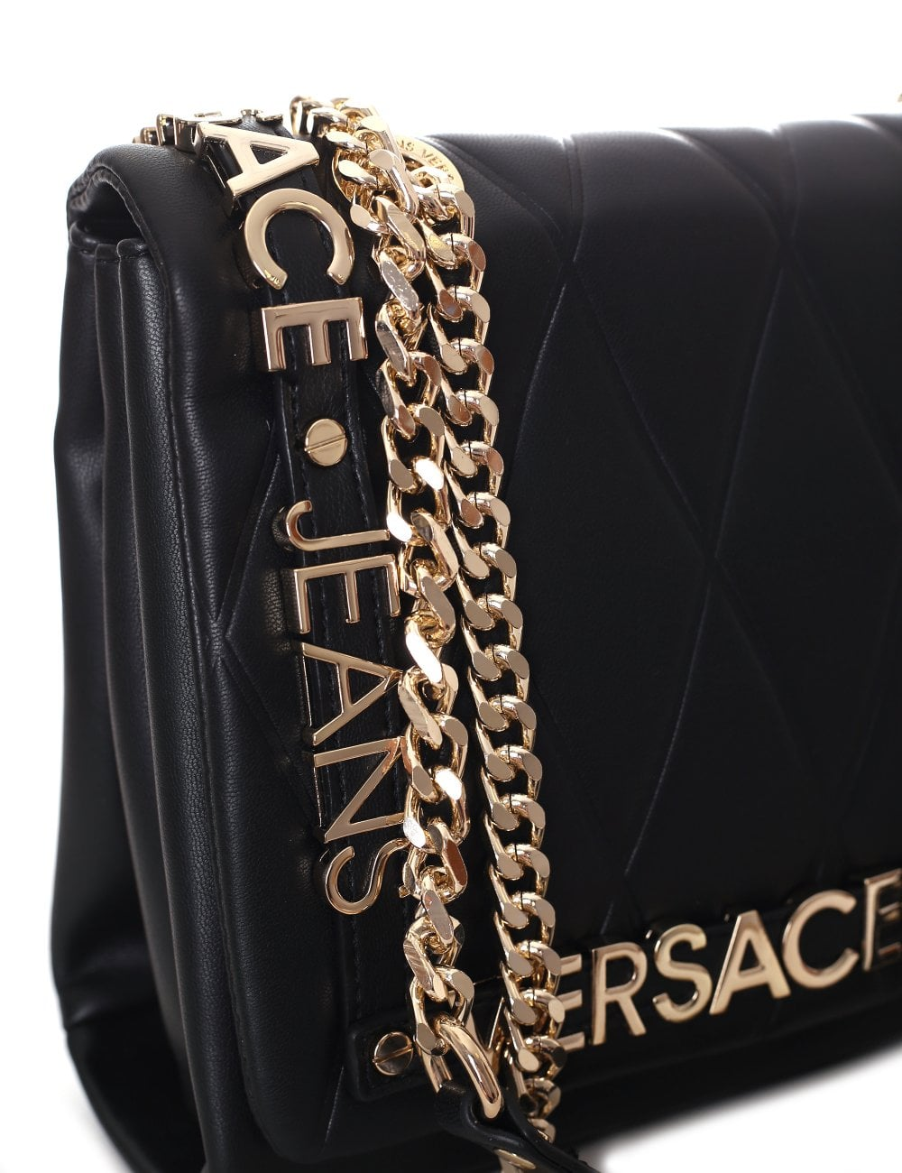 6a0e9dc2028 Versace Jeans Women s Quilted Chain Shoulder bag