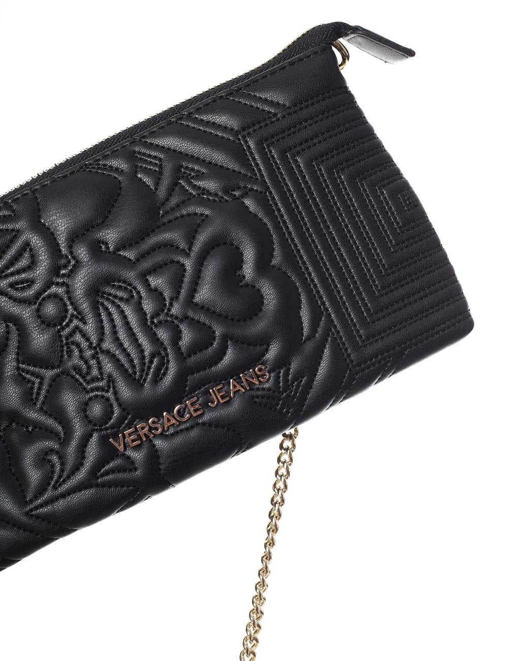 68140ef1e224 Versace Jeans Women s Quilted Wave Small Crossbody Bag