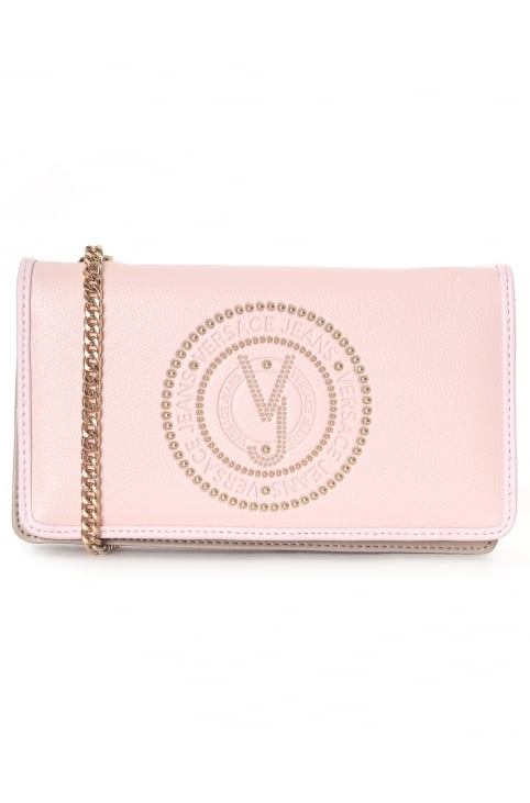 Women's Studded Purse With Chain