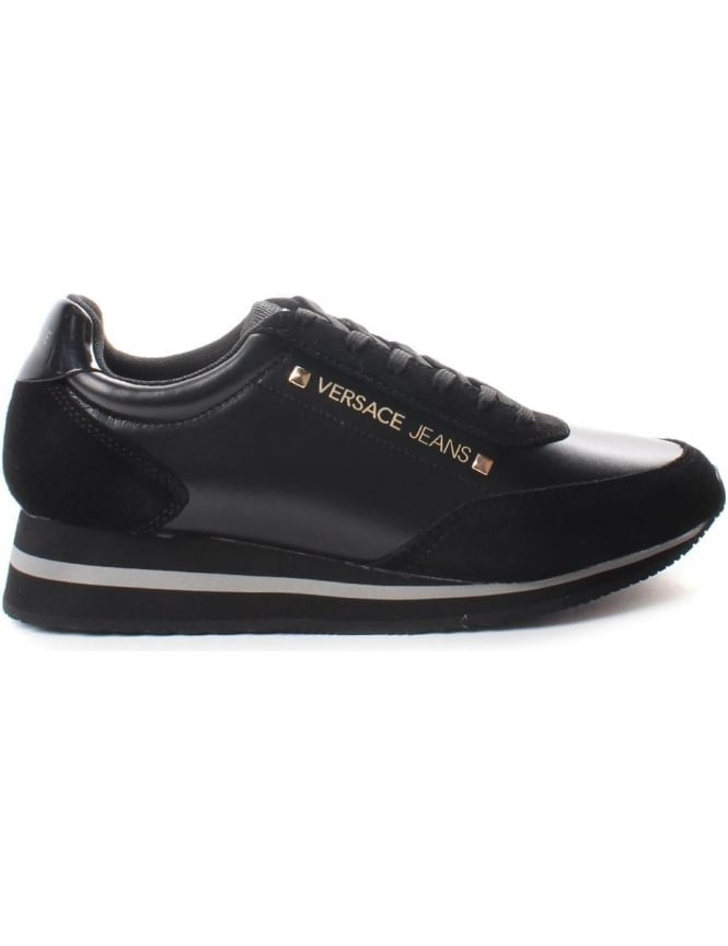 Versace Jeans Women's Suede Detail Trainers Black