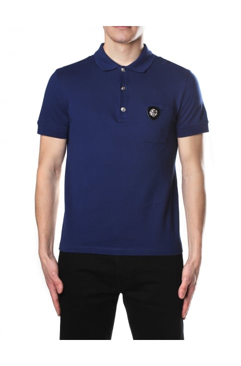 3D Lion Head Men's Short Sleeve Polo Top