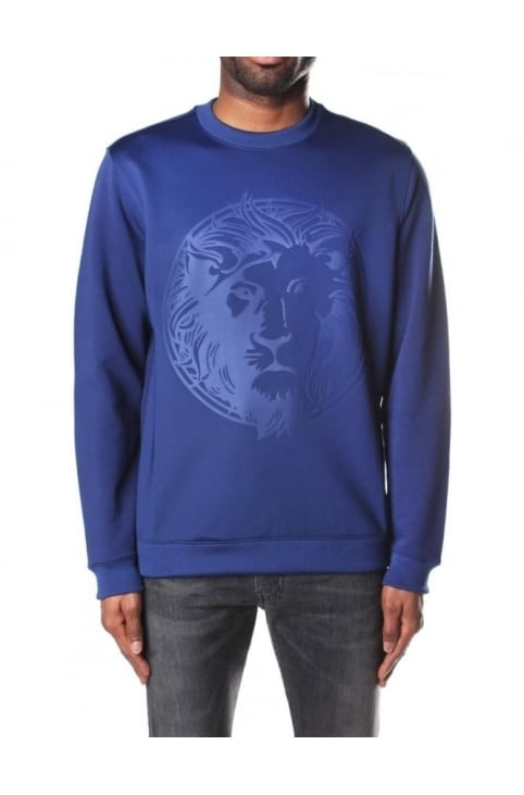 Lion Head Embossed Men's Sweat Top