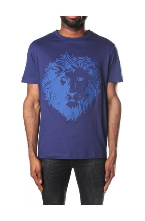 Lion Head Logo Men's Crew Neck T-Shirt