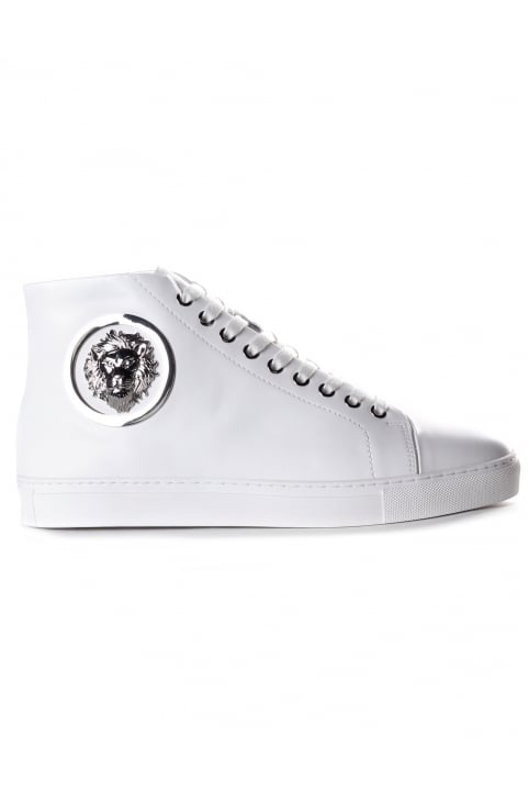 Lion Head Men's Hi Top Leather Trainers