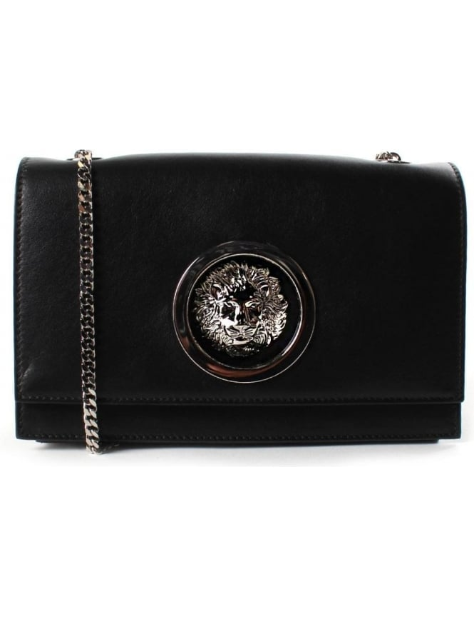 a920801bb8 Versus Versace Lion Women s Hoop Crossbody Bag Black