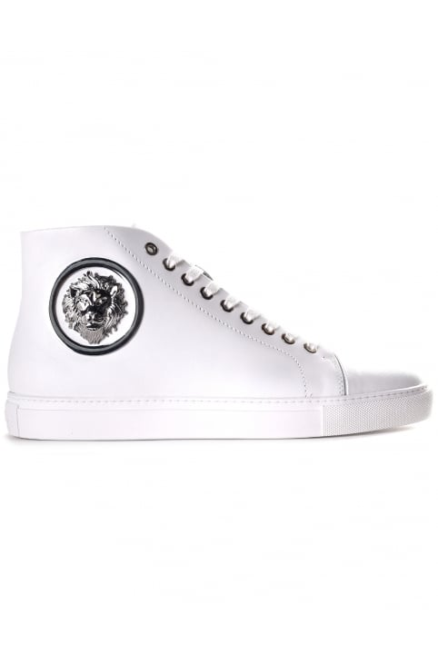 Men's Lion Head Leather HI Top Trainer