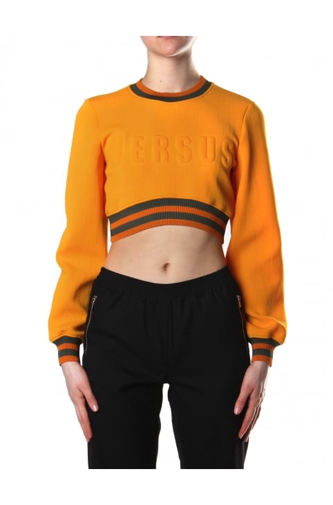 Women's Embossed Cropped Jumper