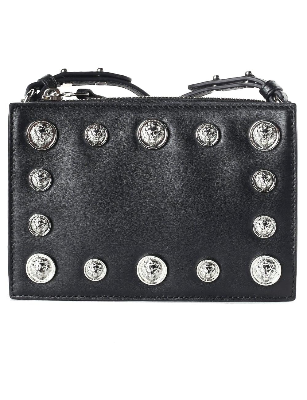 0ee1dcf03c60 Versus Versace Women s Multi Lion Head Zip Top Crossbody Bag