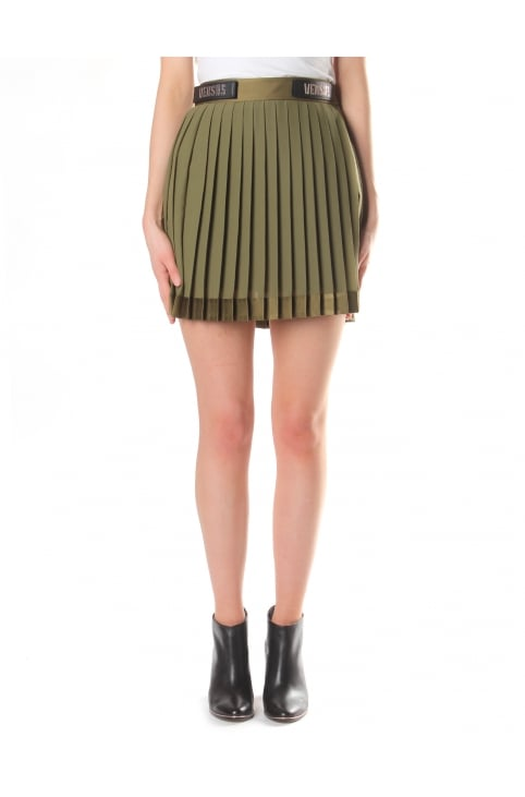 Women's Pleated Woven Skirt