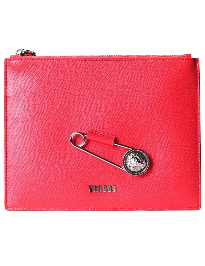 Versus Versace Women's Safety Pin Small Wristlet Flat Pouch
