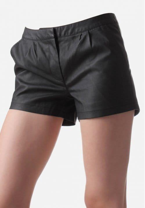 7dec9c9f15f Delu Leather Look Women s Short Shorts Black