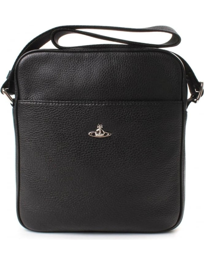 Vivienne Westwood 131080 Men's Small Milano Bag Black