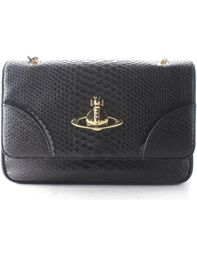 c34f11f814a Vivienne Westwood Frilly Snake 5988V Women's Bag Black