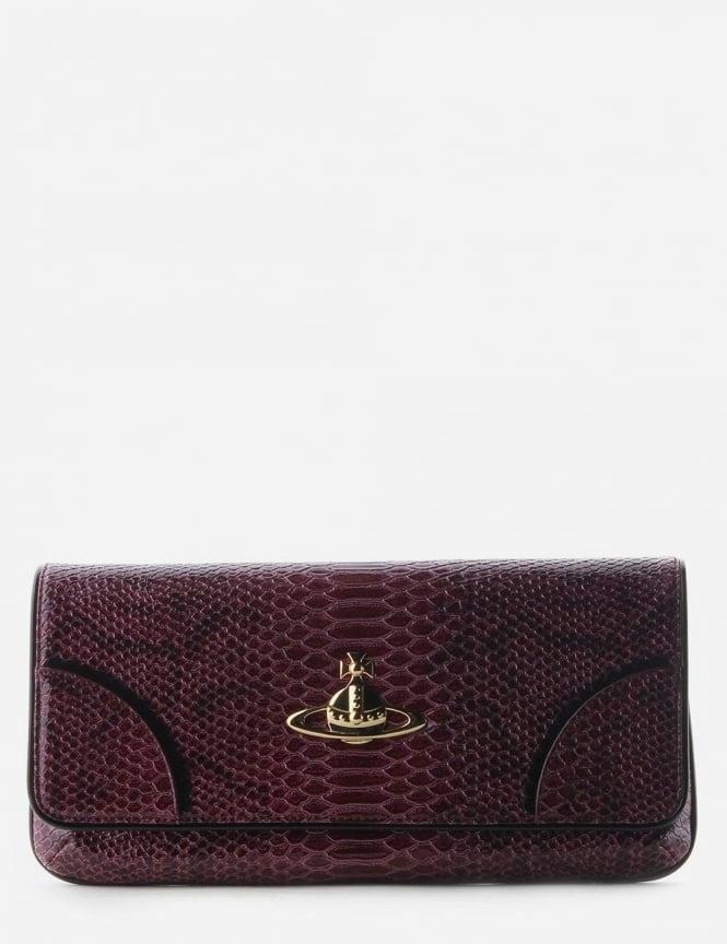 b2ebe2e9ac4 Frilly Snake Women's Clutch Bag Cherry