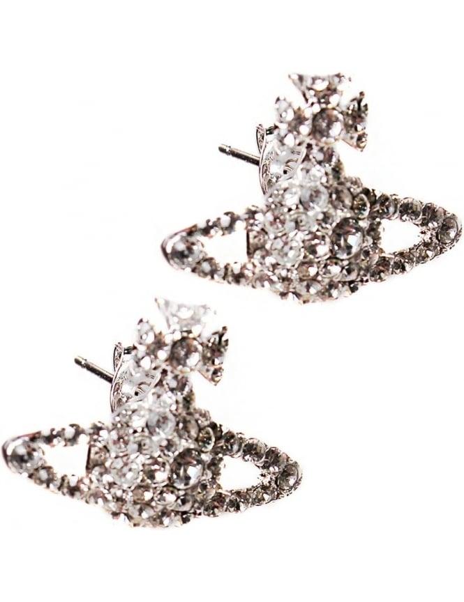 b1bcf242a Vivienne Westwood Grace Women's Bas Relief Stud Earrings Silver